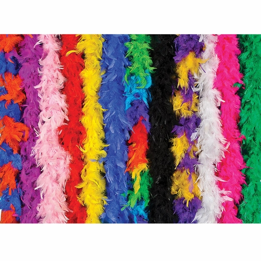 48 Count 60 Gram Assorted Color Feather Boas