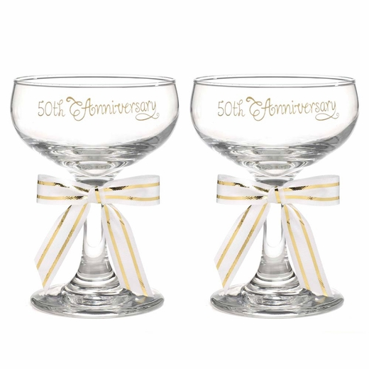 50th  Anniversary Champagne glasses