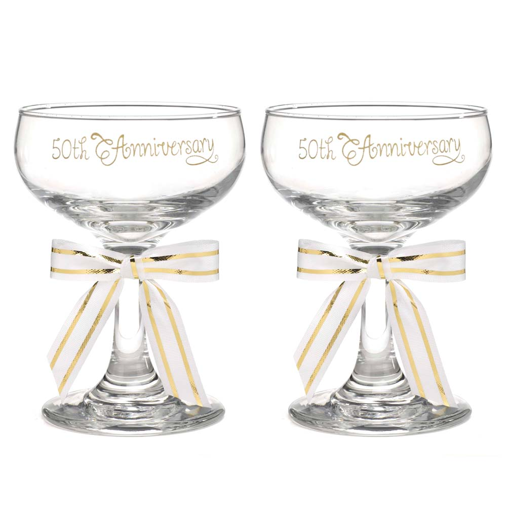 sc 1 st  Party Supplies Delivered & 50th Anniversary Champagne glasses