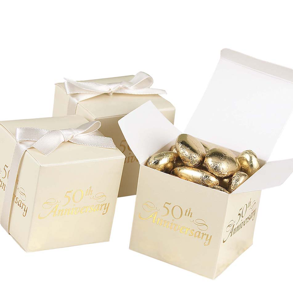 Th anniversary favor boxes