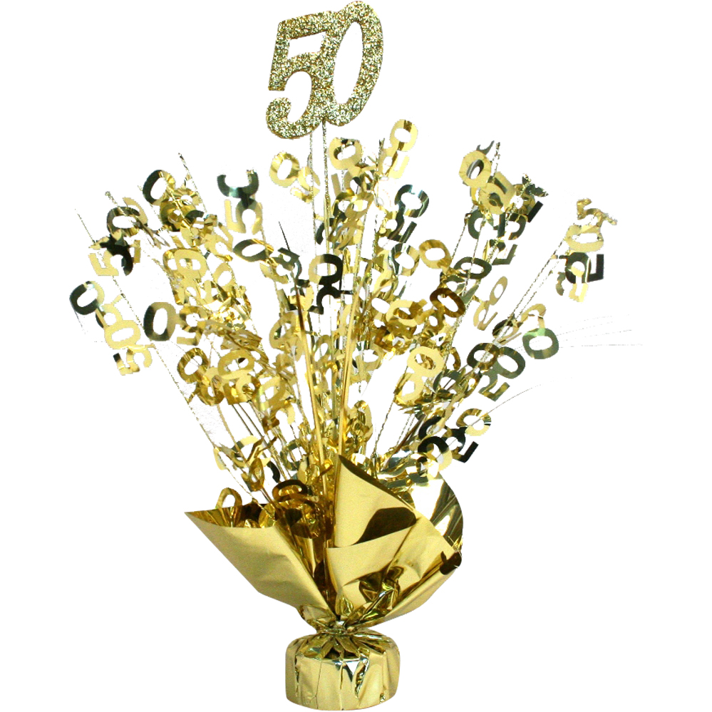 50th anniversary gold centerpiece for Table decoration 50th birthday