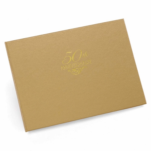 50th Anniversary Gold Guest Book