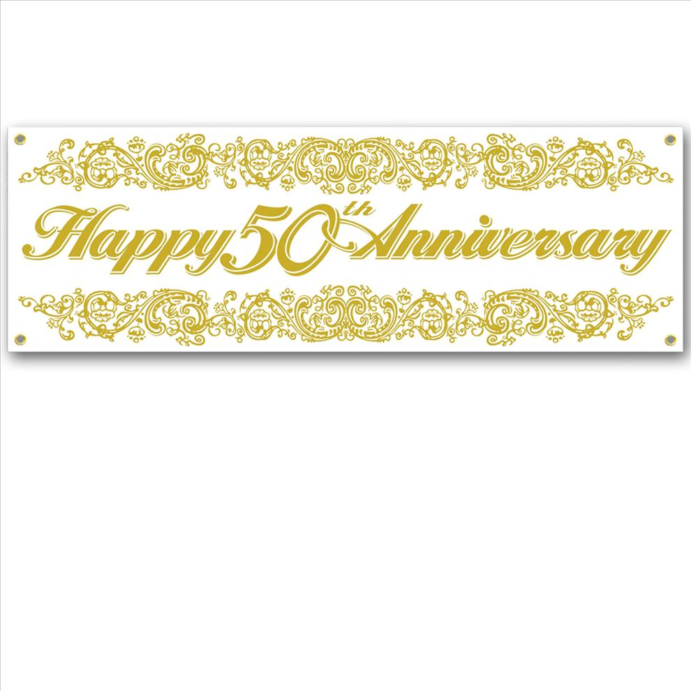 Th anniversary sign banner