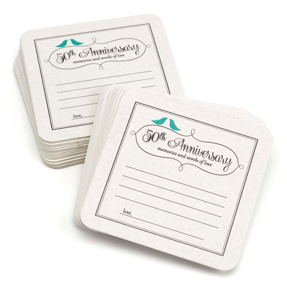 50th Anniversary Words of Love Coasters