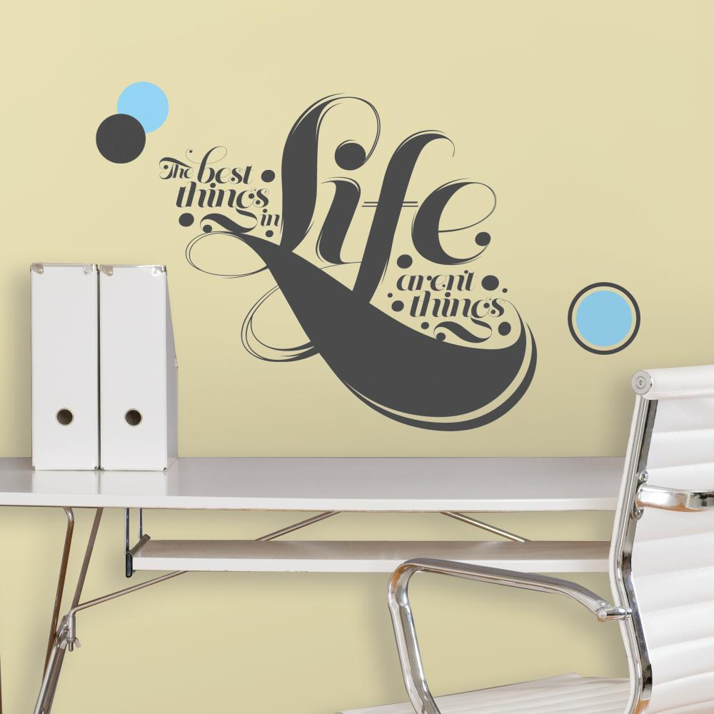 55 His-The Best Things in Life Giant Decal