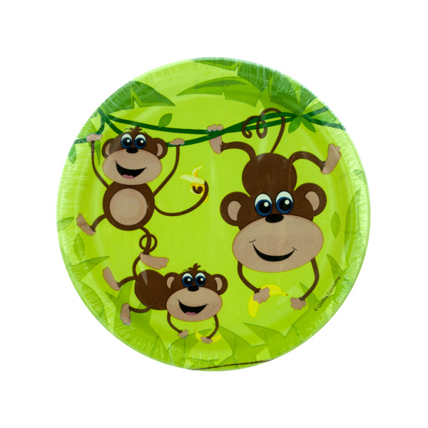 6 7/8 In. Monkeys Paper Plates