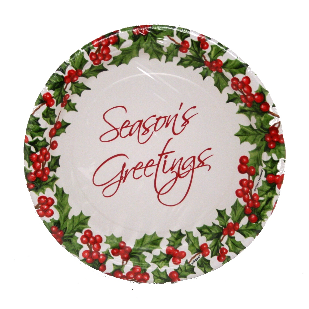 "7"" Christmas Paper Plates 