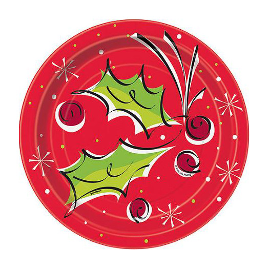sc 1 st  Party Supplies Delivered & Christmas Paper Plates - 7