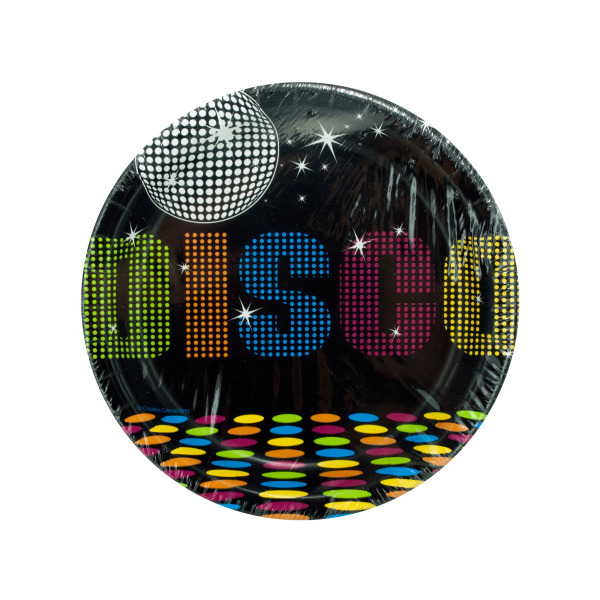 70's Disco Themed Party Plates