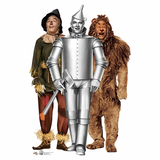 75th Anniversary Lion Tin Man Scarecrow Standup
