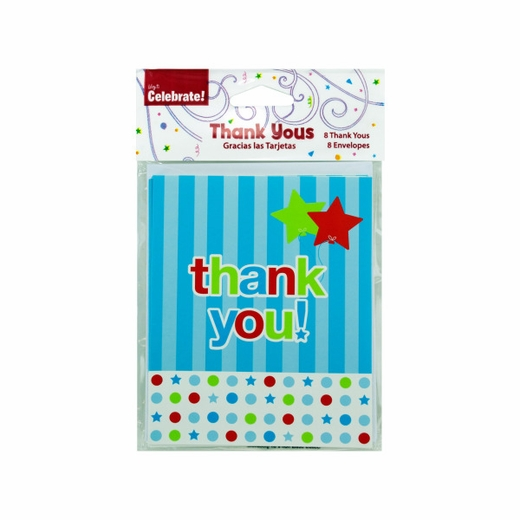 8 Pack Thank You Cards