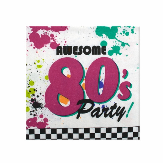 80s Party Napkins