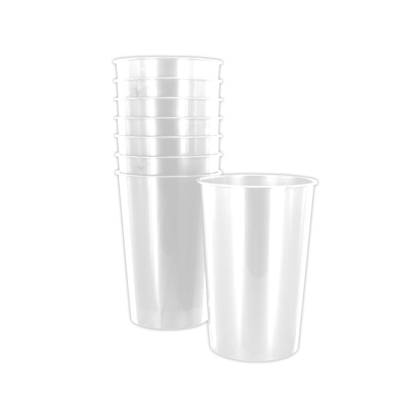 9oz White Plastic Cups