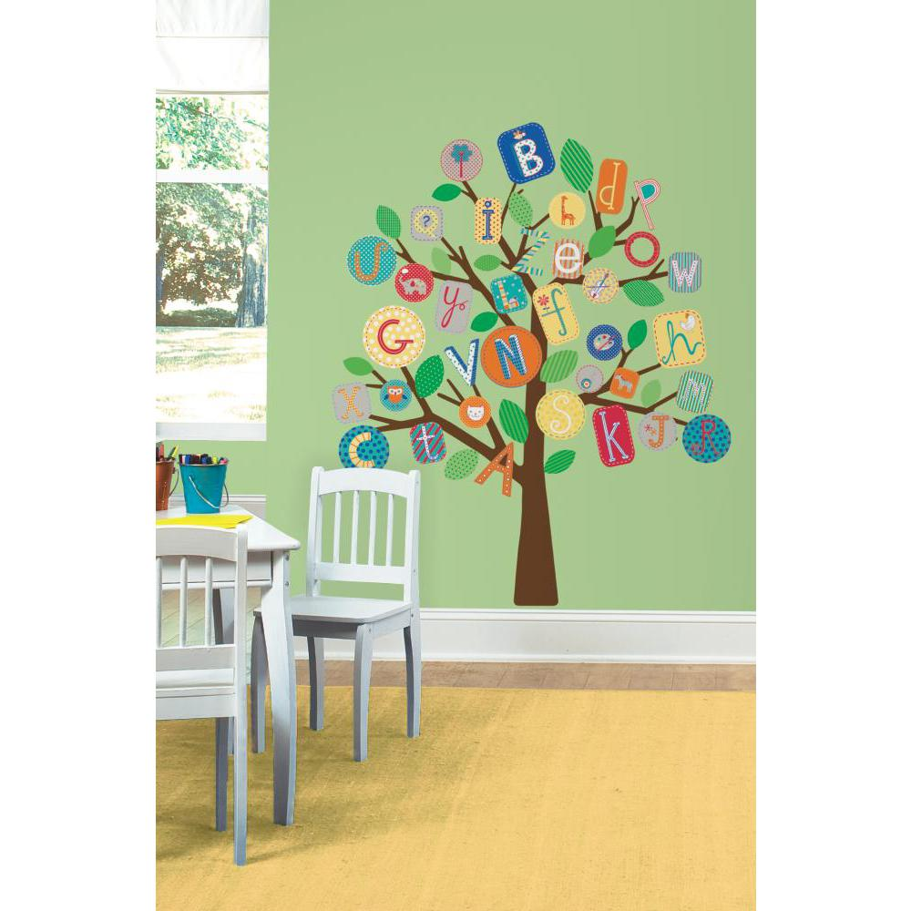 ABC Primary Tree Peel And Stick Giant Decal