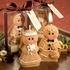 Adorable Gingerbread Bride And Groom Candle Favors