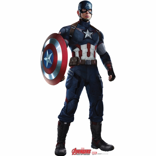 Age Of Ultron Captain America Cardboard Cutout