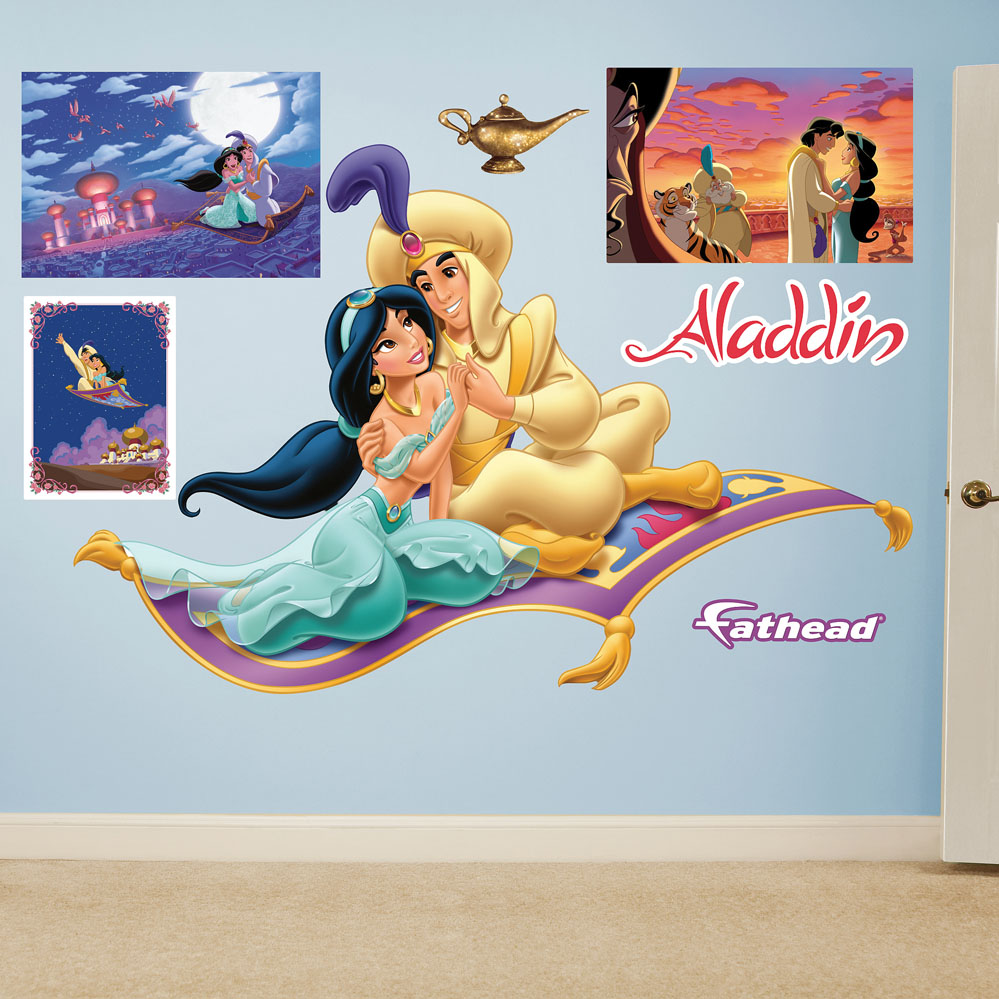 Aladdin and Jasmine Magic Carpet Wall Decal