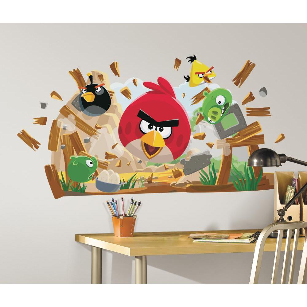 Angry Birds Peel And Stick Giant Decal