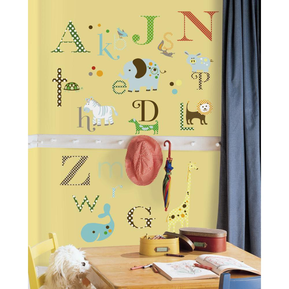Animal Alphabet Peel And Stick Decal