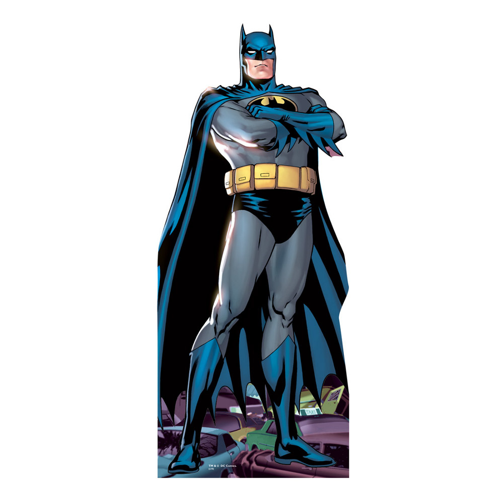 Arms Folded Lifesized Batman Cartoon Standup