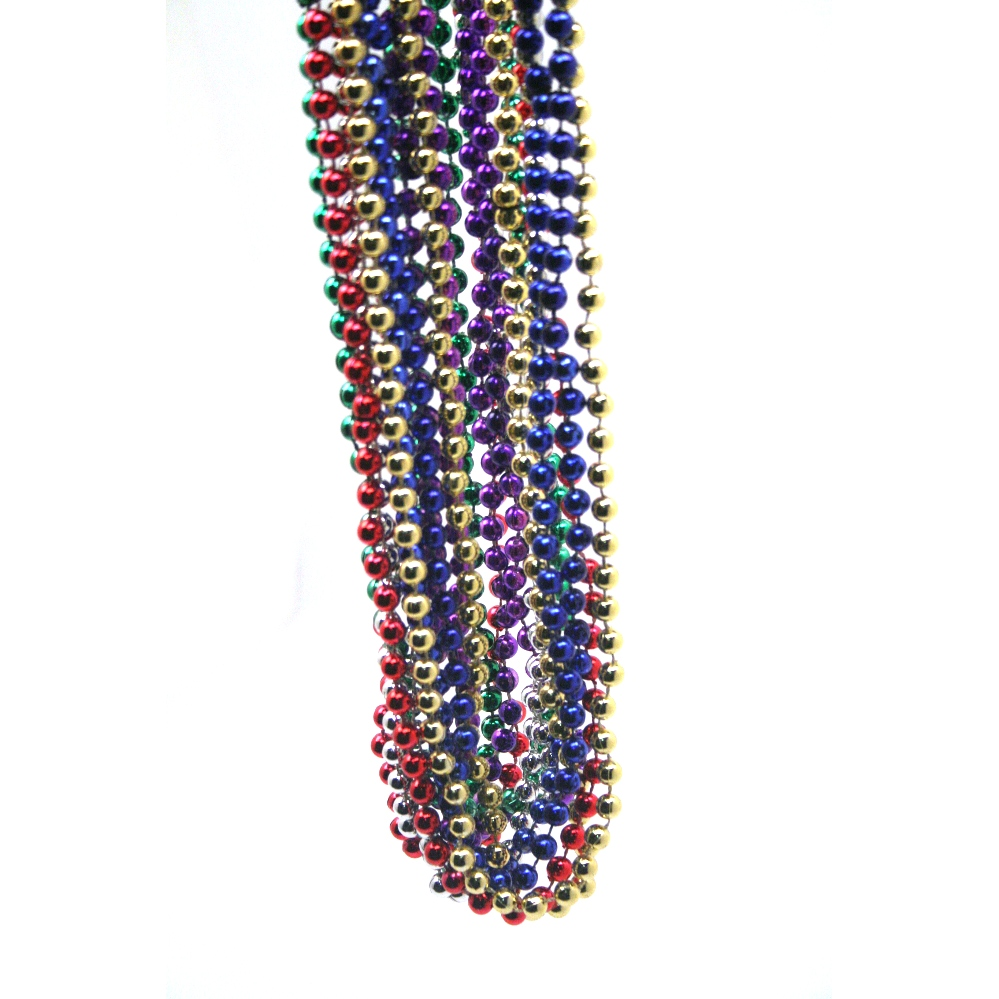 Throw beads are machine made, and thus less expensive than their hand-strung counterparts. Their inexpensive price makes these Mardi Gras beads prime throwing material! JavaScript seems to be disabled in your browser.