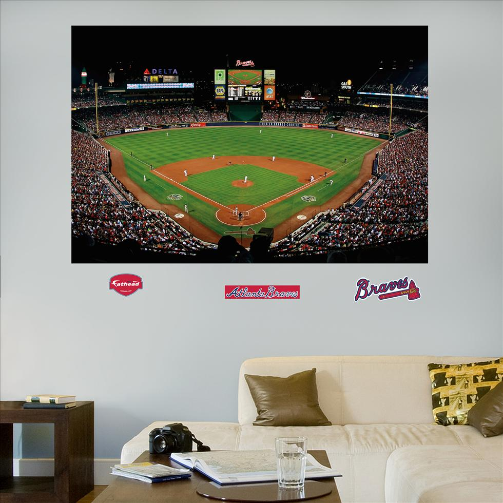 Atlanta Braves Turner Field Stadium Mural-Fathead