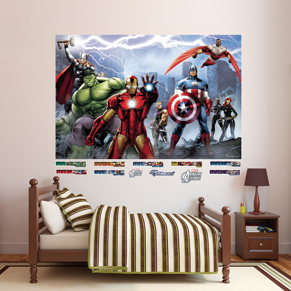 Avengers Assemble Mural REALBIG Wall Decal