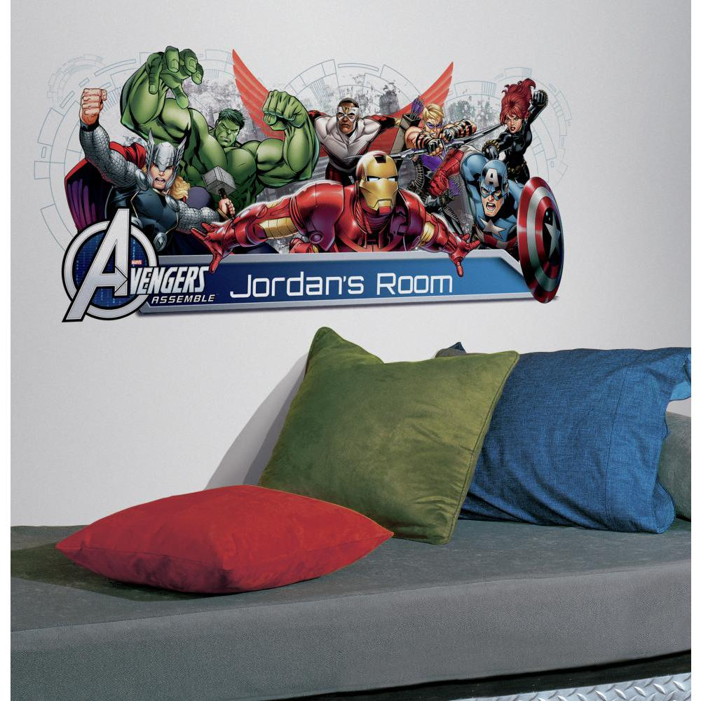 Avengers Assemble Personalization Headboard Decal