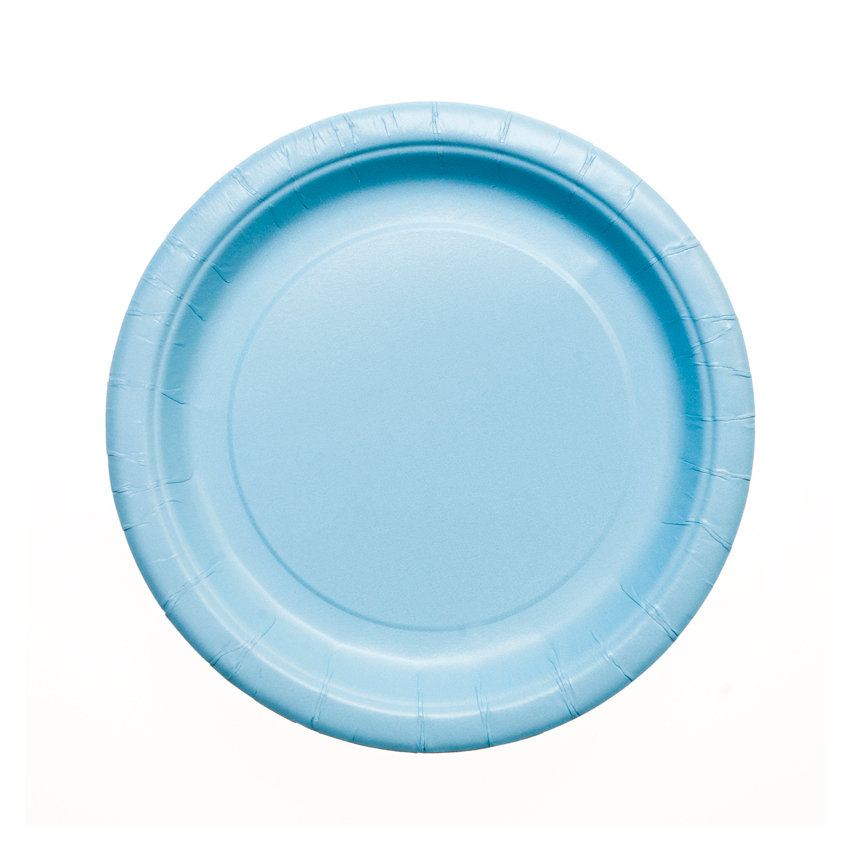 sc 1 st  Party Supplies Delivered & Baby Blue Paper Plates - 7\