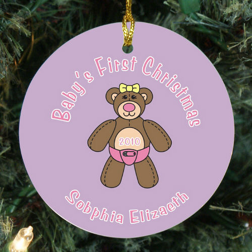 Baby Girls First Christmas Ornament