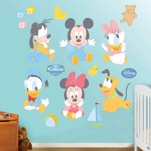 Baby Mickey and Friends REALBIG Wall Decal