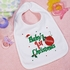 Baby's 1st Christmas Personalized Baby Bib With Ornament