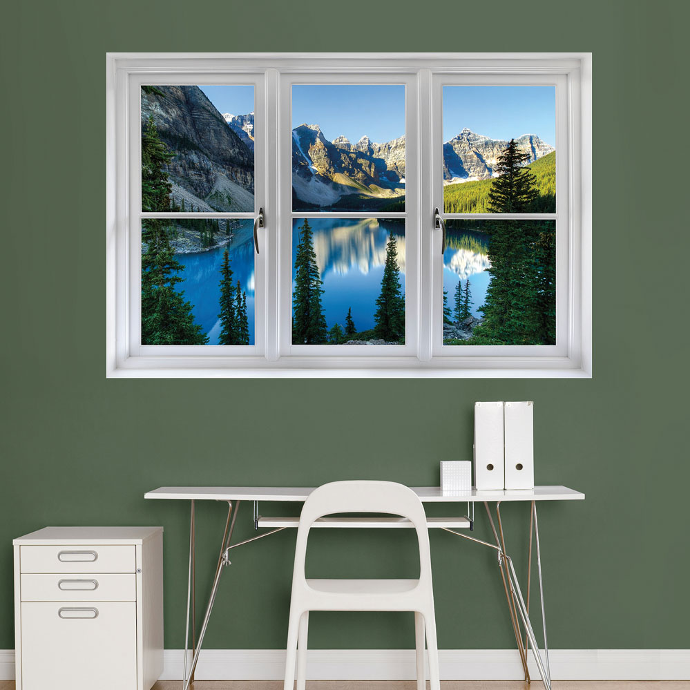 Banff Mountains and Lake Instant Window Wall Decal