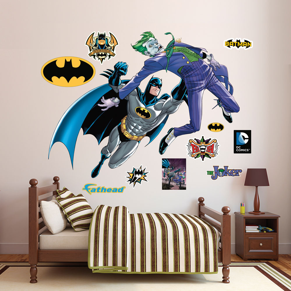 Batman and The Joker Battle REALBIG Wall Decal