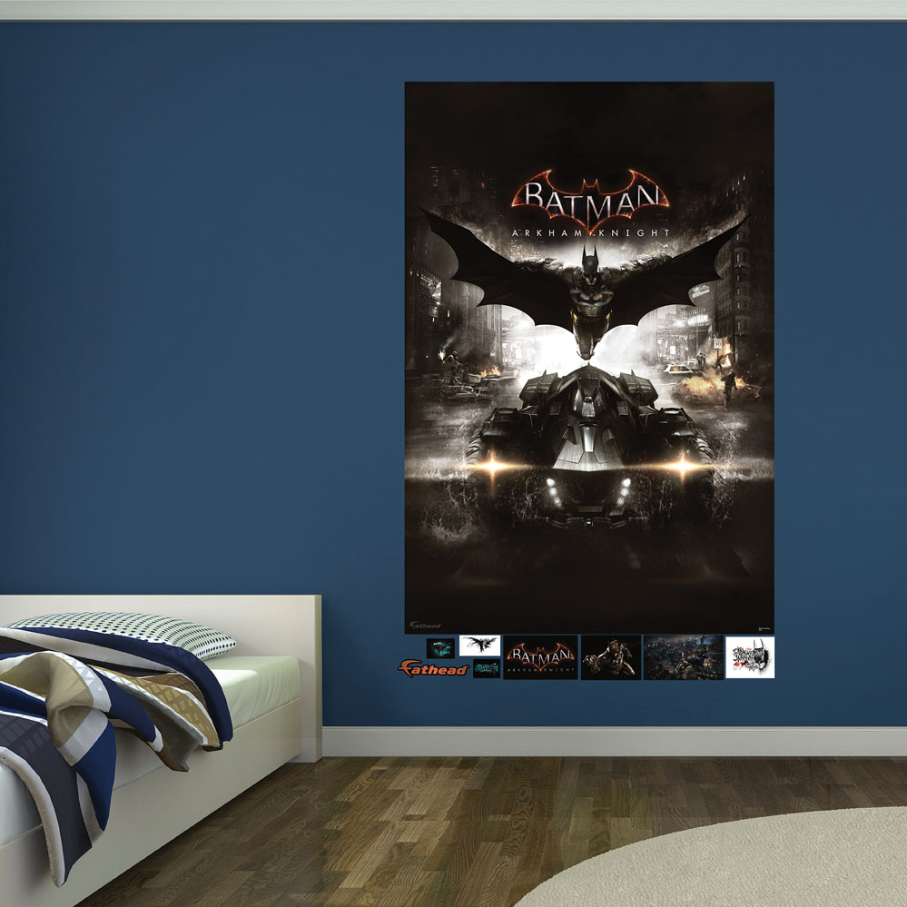Batman arkham knight cover mural wall decals for Batman wall mural