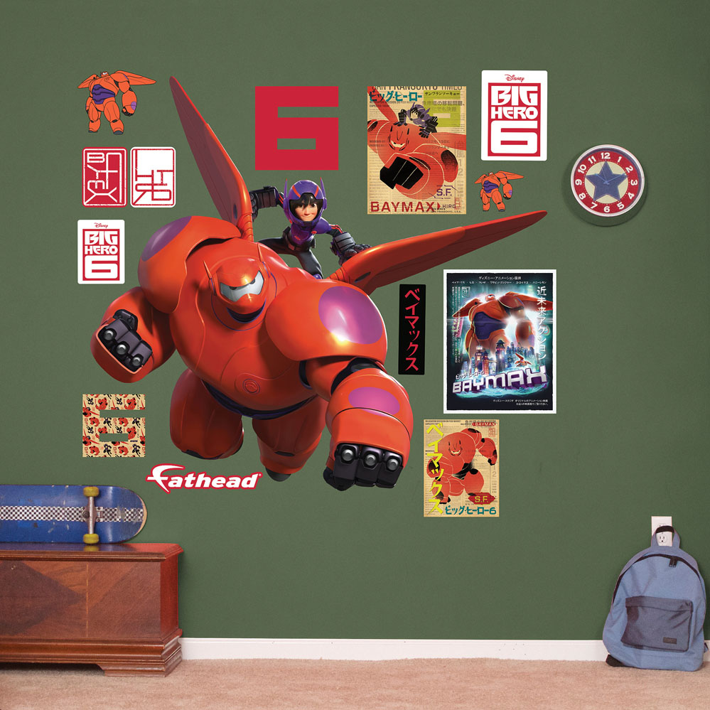Baymax And Hiro REALBIG Wall Decal