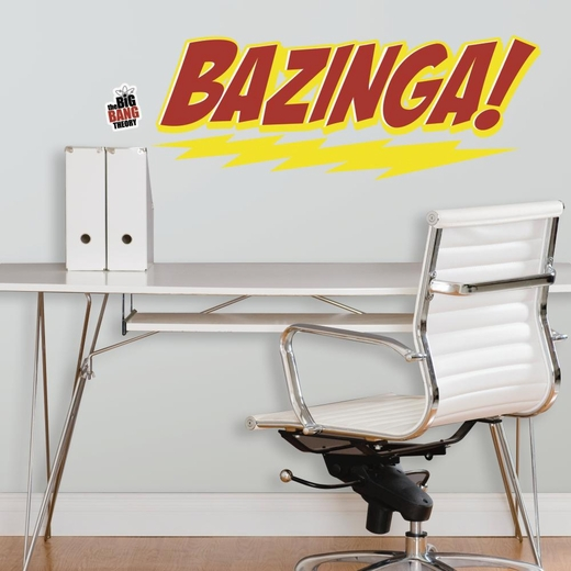 Big Bang Theory BAZINGA Peel And Stick Giant Decal