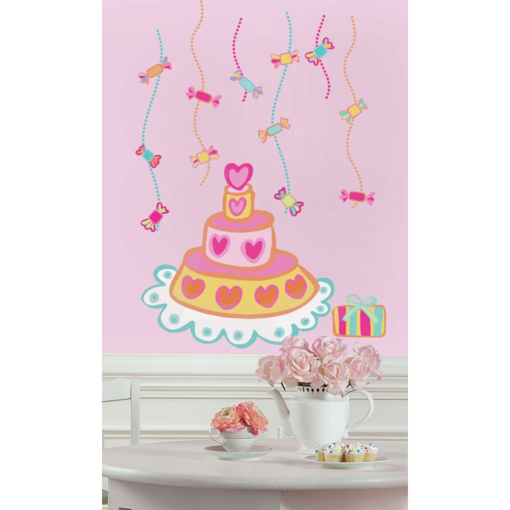 Birthday Cake Peel And Stick Giant Decal