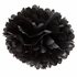 "Black 16"" Puff Ball Decoration"