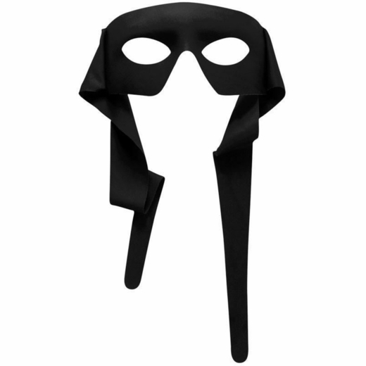 Black Adult Tie Behind Mask