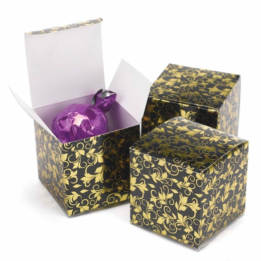 Black And Gold Foil Patterned Boxes