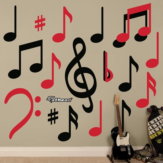 Black and Red Musical Notes Collection