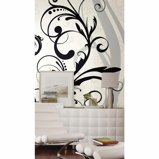 Black And White Scroll Chair Rail