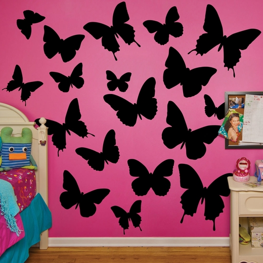 Black Butterflies REALBIG Wall Decal