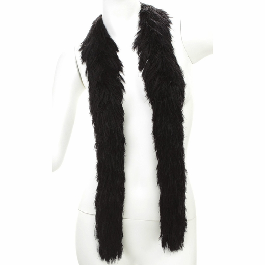 Black Faux Fur Boa (6', 190 grams)