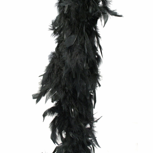 Black Feather Boa (6' 35 grams)