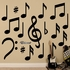 Black Musical Notes Collection REALBIG Wall Decal
