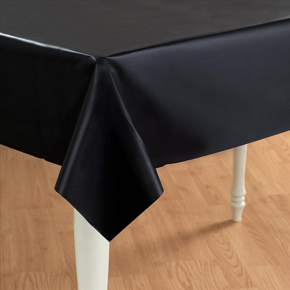 Black Plastic Table Cover Rectangle