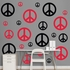Black And Red Peace Signs REALBIG Wall Decal