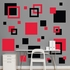 Black And Red Squares REALBIG Wall Decal